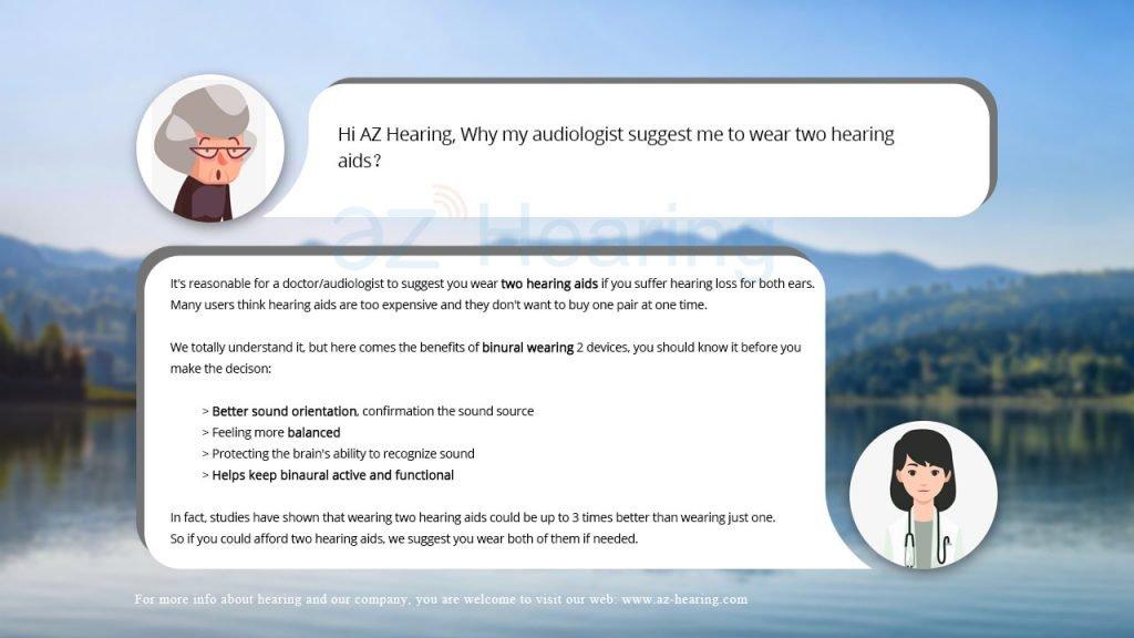 binaural wearing of hearing devices